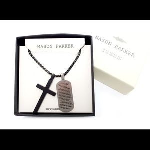 NWT Mason Parker Men's Stainless Steel Necklace